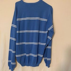 Blue and White Men's Izod Sweater
